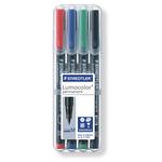 Pennarello Astucci Lumocolor Permanent 317 - punta 1,0mm - 4 colori  - Staedtler
