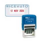 Timbro S260/L1 Datario + RICEVUTO - 4 mm - autoinchiostrante - bicolore - Colop®