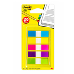 Segnapagina Post-it® Index Mini - 12x43.1 mm - 5 colori vivaci - set da 100 segnapagina