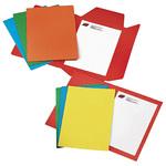 Cartelline semplici - cartoncino Bristol 200 gr - 25x34 cm - rosso - Cartotecnica del Garda - conf. 50 pezzi