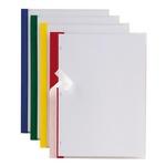 Cartelline Poli 200 - PPL - 21x29,7 cm - trasparente - dorso rosso - Sei Rota - conf. 10 pezzi