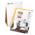 Blocco/Lavagna da tavolo Super Sticky autoportante - 20 fogli in carta riciclata - 58,4x50,8 cm - bianco - Post it®