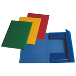 Cartellina con elastico - cartoncino plastificato - 3 lembi -  550 gr - 25x35 cm - verde - Esselte