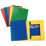 Cartellina con elastico - presspan - 3 lembi - 870 gr - 25x35 cm - giallo - Esselte