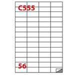 Etichetta adesiva C555 - permanente - 52,5x21,2 mm - 56 etichette per foglio - bianco - Markin - scatola 100 fogli A4