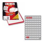 Etichetta adesiva R300 - permanente - tonda ø 20 mm - 88 etichette per foglio - bianco - Markin - scatola 100 fogli A4