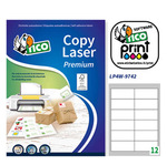 Etichetta adesiva Copy Laser LP4W Tico - bianco - 97x42.3 mm - 12 etichette per foglio - conf. 100 fogli A4