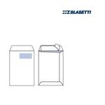 Busta a sacco bianca con finestra - serie Self - strip adesivo - 230x330 mm - 100 gr - Blasetti - conf. 500 pezzi