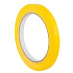 Nastro adesivo PVC 350 - 9 mm - giallo - Eurocel - rotolo da 66 mt