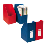 Portariviste Oblique 100 - 24x32 cm - dorso 10 cm - blu - Sei Rota