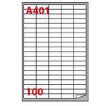 Etichetta adesiva A401 - permanente - 37x14 mm - 100 etichette per foglio - bianco - Markin - scatola 100 fogli A4