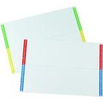 Cartoncini per cartelle sospese - cassetto - 28 cartoncini per foglio - 310 mm - Bertesi - conf. 10 fogli