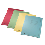 Cartelline 3 lembi - con stampa - cartoncino 295 gr - 25x35 cm - verde - Esselte - conf. 25 pezzi