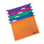 Cartelle sospese - cassetto - interasse 33 cm - fondo V - PPL - 30,7x24,2 cm - colori assortiti - Rexel - conf. 10 pezzi
