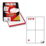 Etichetta adesiva C519 Extra Forte Markin - bianco - 105x148 mm - 4 etichette per foglio - scatola 100 fogli A4