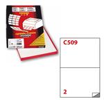 Etichetta adesiva C509 Extra Forte - permanente - 210x148 mm - 2 etichette per foglio - bianco - Markin - scatola 100 fogli A4