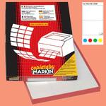 Etichetta adesiva C509 - permanente - 210x148 mm - 2 etichette per foglio - blu - Markin - scatola 100 fogli A4