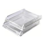 Vaschetta portacorrispondenza Nimbus - 26,8x5,5x33 cm - cristallo trasparente - Rexel