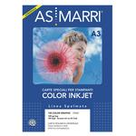 Carta inkjet - A3 - 125 gr - effetto opaco - bianco - As Marri - conf. 100 fogli