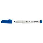 Pennarello a secco Tratto Memo per lavagne cancellabili - blu - punta a scalpello - tratto 6,5mm - Tratto