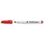 Pennarello a secco Tratto Memo per lavagne cancellabili - punta a scalpello - tratto 6,5mm - rosso  - Tratto