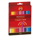 Studio Acquarello - mina Ø 3,80mm - colori assortiti - Koh-I-Noor - Astuccio 36 pastellli colorati