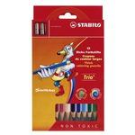Stabilo Trio Maxi - Ømina 4,2mm - colori assortiti - Stabilo - astuccio 12 colori con temperino