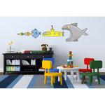 Adesivo murale removibile - Big Fish Eat Y Submarine - taglia XL (68x98 cm) - Wallskin