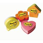 Blocco foglietti fiore - arancio, rosa ultra, rosa pastello - 70 x 70mm - 225 fogli - Post it®