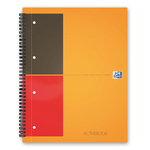 Blocco spiralato International Activebook - 1 rigo con margine - 240 x 297mm - 80gr - 80 fogli - Oxford