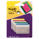 Segnapagina Post it® Index Strong - per archivio - 50,8x38 mm - colori classici - Post it® - conf. 24 pezzi