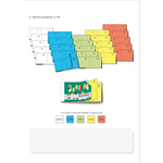 Blocco numerato 1/100 - colori assortiti - 6 x 13cm - Edipro