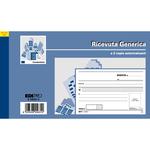 Blocco ricevute generiche - 50 fogli 2 copie autoricaricanti - 9,9 x 17cm - 50 fogli - Edipro