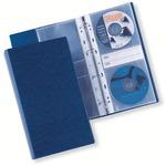 Raccoglitore Disco - 4 anelli - 40 CD archiviabili - blu - 14.5x30 cm - 20 buste Atla CD 2 incluse - Sei Rota