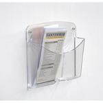 Portariviste da parete Ice - 2 tasche 1/3 A4 - Tecnostyl - set 2 pezzi