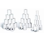 Rotoli POS senza anima - 57mm x 11mt - diametro esterno 30mm - anima 6mm - carta termica - Rotomar - blister 12 rotoli