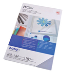Scatola 100 copertine Hi-Clear - 200micron - A4 - neutro trasparente - GBC