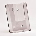 Portadepliant da parete - tasca 1/3 A4 - trasparente - Studio T