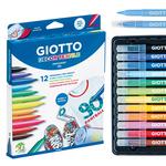 Pennarelli Decor Textile - per tessuto - Giotto - astuccio 12 pennarelli