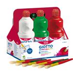 Schoolpack 6 flaconi tempera pronta - 1000ml - colori assortiti - Giotto