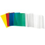 Copriquaderno - A5 - pvc satinato goffrato - neutro trasparente - con alette - Ri.plast