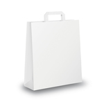 Shopper carta - maniglia piattina - 18 x 8 x 25 cm -  bianco - conf. 25 sacchetti