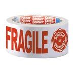 Nastro adesivo con scritta FRAGILE e SIGILLO DI SICUREZZA - PPL - 50 mm x 66 m - Tesa