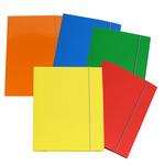 Cartellina con elastico - cartone plastificato - 3 lembi - 25x34 cm - colori assortiti - Cartotecnica del Garda