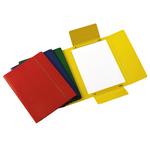 Cartellina con elastico - presspan - 3 lembi - 700 gr - 25x34 cm - giallo - Cartotecnica del Garda