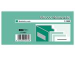 Blocchi numerati (1/1000) - 5 colori assortiti - 6 x 13cm - Edipro