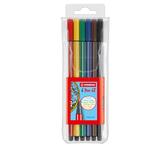 Evidenziatore Pen 68 - 6 colori neon - Stabilo - busta 6 evidenziatori