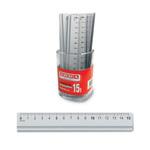 Barattolo 15 righelli - 15cm - alluminio - Arda