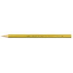 Supermina pastelli colorati - esagonali Ø 7,6mm lunghezza 18cm e mina Ø 3,8mm - giallo ocra - Giotto
