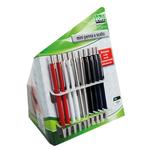 Penna mini a scatto da agenda - colori assortiti - Lebez - conf. 20 pezzi